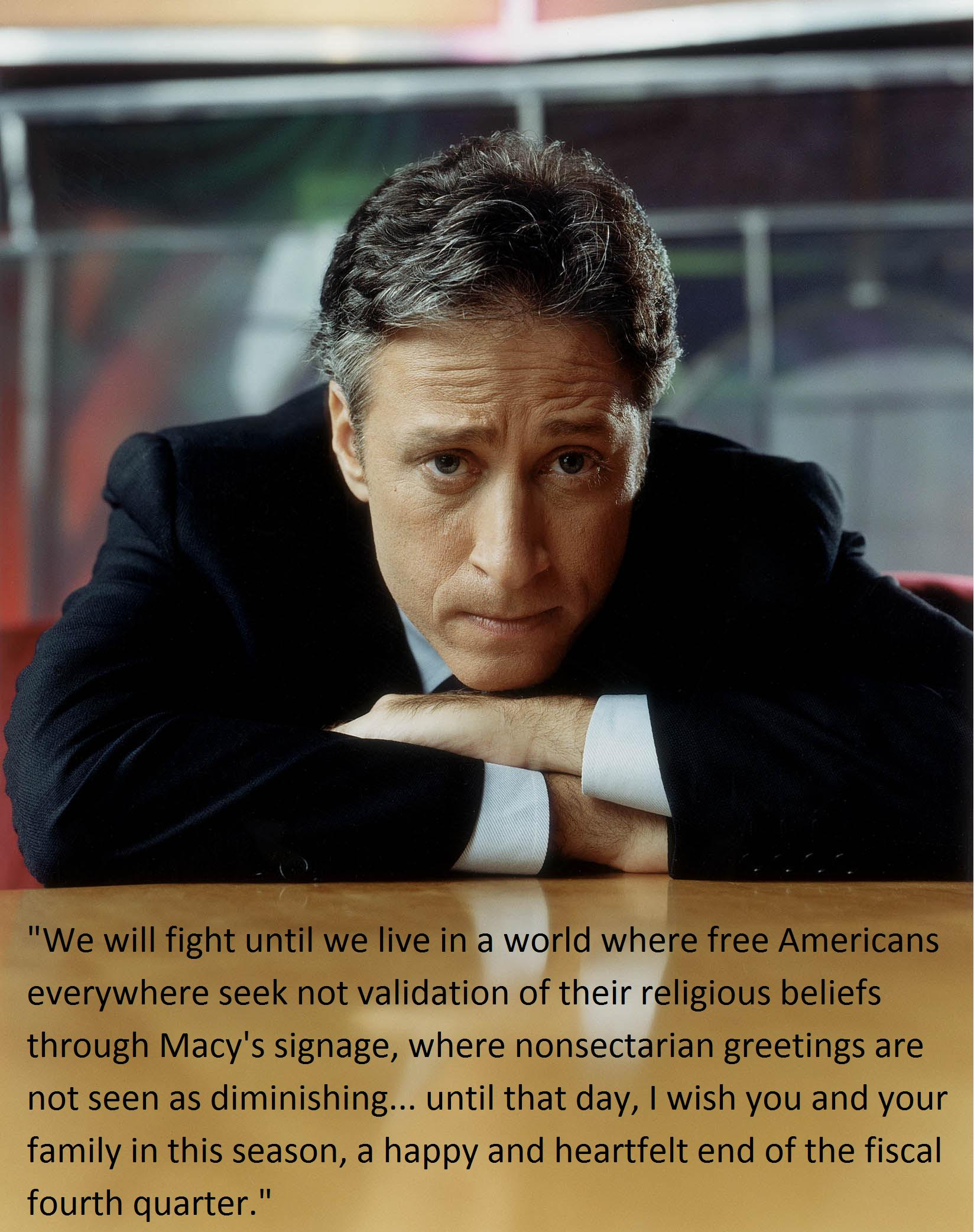 Jon Stewart declares war on Christmas – Le Café Witteveen