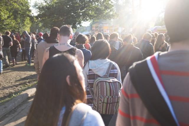 Riot Fest Crowd